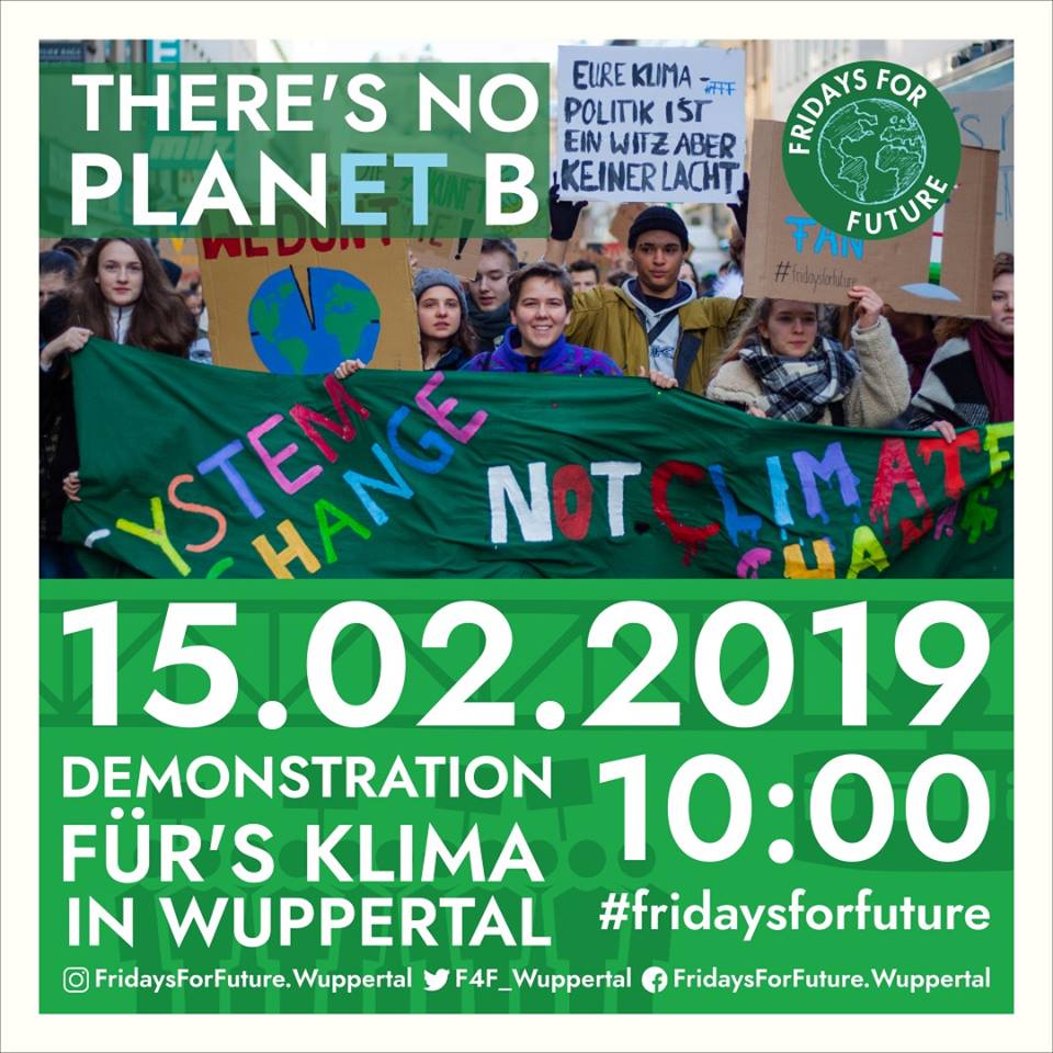 Fridaysforfuture Klimastreik Am 15 Februar Auch In Wuppertal